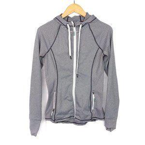 Kyodan Gray/White Stripe Full Zip Hooded Jacket